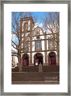 Church In Azores Islands Framed Print