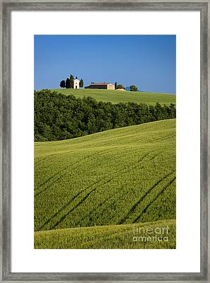 Church In The Field Framed Print by Brian Jannsen