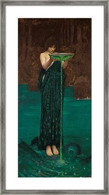 Circe Invidiosa Framed Print by John William Waterhouse
