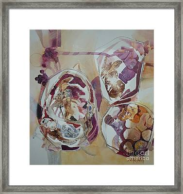 Circles Framed Print by Donna Acheson-Juillet