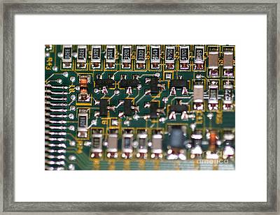 Circuit Board Framed Print by Henrik Lehnerer