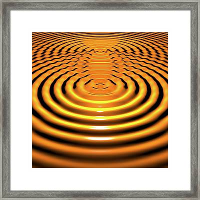 Circular Wave Interference Framed Print