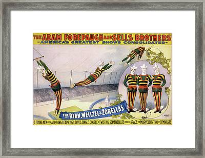 Framed Print featuring the painting Circus Poster, C1898 by Granger