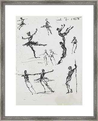Circus Studies Framed Print by H James Hoff