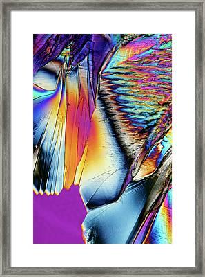 Citric Acid Crystals Framed Print by Karl Gaff