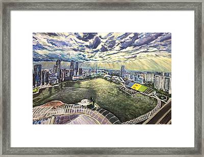 City Around The River Framed Print by Belinda Low