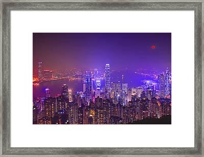 City Of Lights Framed Print by Midori Chan