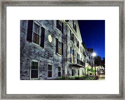 City Scene At Night Framed Print by HD Connelly