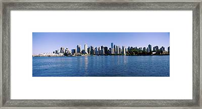 City Skyline, Vancouver, British Framed Print by Panoramic Images