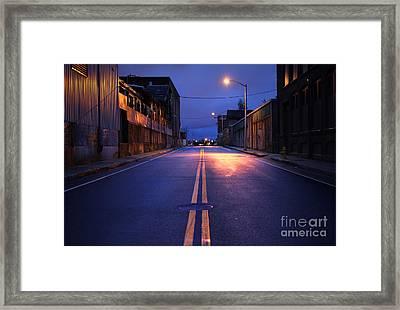City Street Framed Print by Denis Tangney Jr