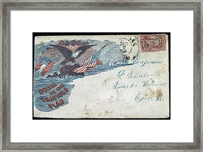 Civil War Letter, C1863 Framed Print by Granger