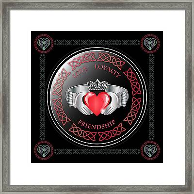 Claddagh Ring Framed Print by Ireland Calling