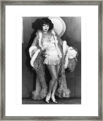 Clara Bow Framed Print by Silver Screen