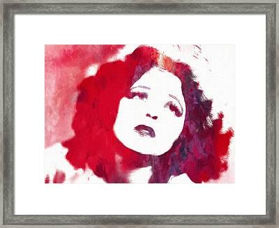 Clara Bow Framed Print by Steve K