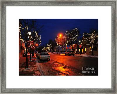 Clare Michigan At Christmas 3 Framed Print by Terri Gostola