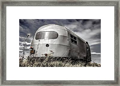 Classic Airstream Caravan Framed Print by Ian Hufton