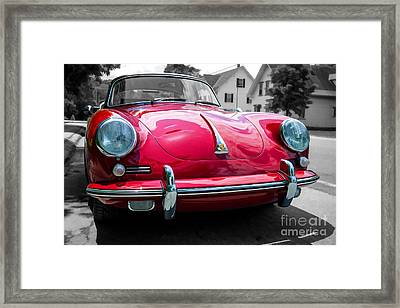 Classic Red P Sports Car Framed Print