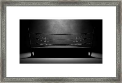 Classic Vintage Boxing Ring Framed Print
