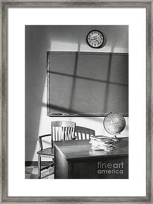 Classroom Framed Print by Tony Cordoza