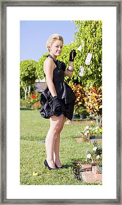 Classy Rich Woman Framed Print by Jorgo Photography - Wall Art Gallery