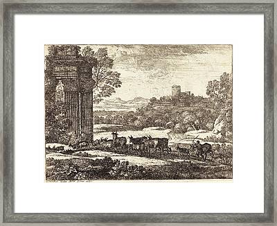 Claude Lorrain French, 1604-1605 - 1682 Framed Print by Quint Lox