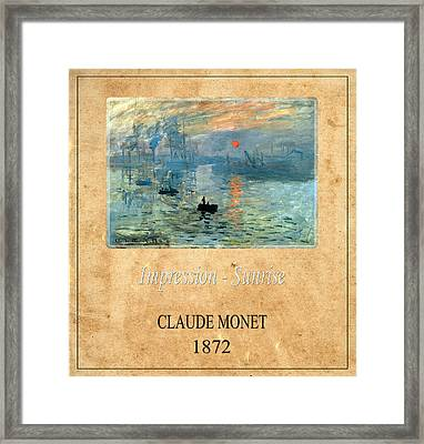 Claude Monet 2 Framed Print by Andrew Fare