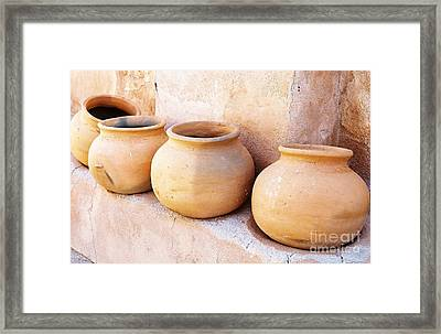 Clay Pots Framed Print by Kerri Mortenson