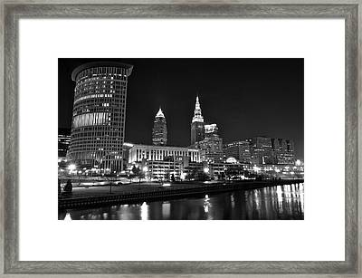 Cleveland In Black And White Framed Print by Frozen in Time Fine Art Photography