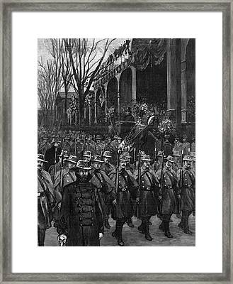 Cleveland Inauguration Framed Print by Granger