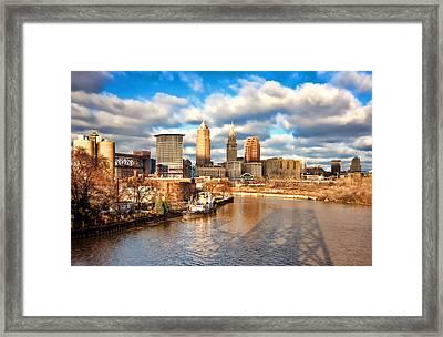 Cleveland Skyline Framed Print by Brent Durken