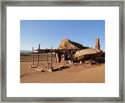 Cliff Dweller Home Framed Print
