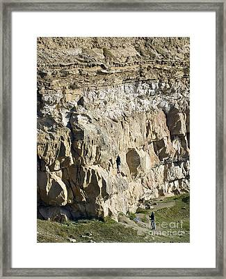 Cliff Face, Dorset Framed Print by Adrian Bicker