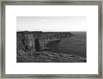 Cliffs Of Moher Framed Print by Aidan Moran