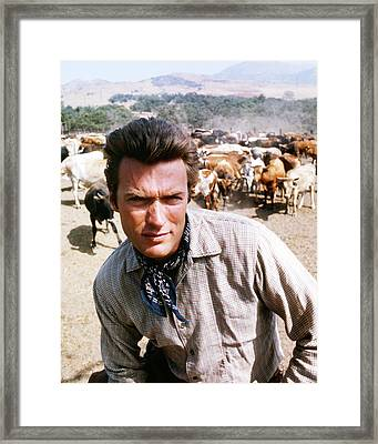 Clint Eastwood In Rawhide  Framed Print