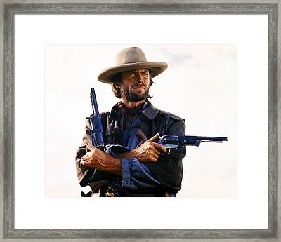 Clint Eastwood In The Outlaw Josey Wales  Framed Print by Silver Screen