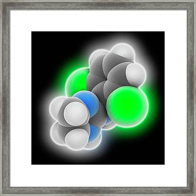 Clonidine Drug Molecule Framed Print by Laguna Design
