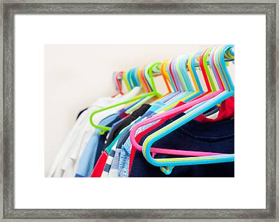 Clothes Hangers Framed Print