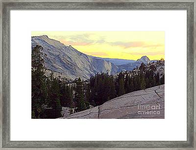 Cloud's Rest And Half Dome Framed Print