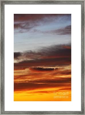 Cloudscape At Sunrise Framed Print by Sami Sarkis