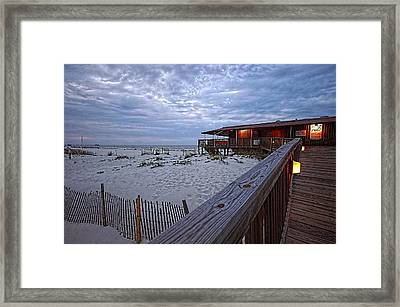 Framed Print featuring the painting Cloudy Morning At The Sea N Suds by Michael Thomas