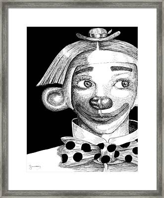 Clown Of Joy Framed Print