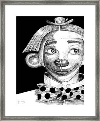 Clown Of Joy Framed Print by Carl Genovese