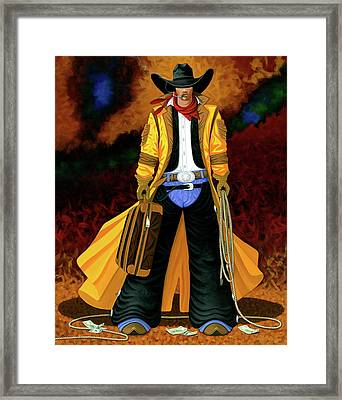 Clyde Framed Print by Lance Headlee