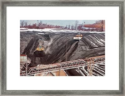 Coal-fired Power Station Coal Yard Framed Print