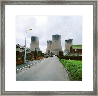 Coal-fired Power Station Framed Print by Robert Brook/science Photo Library
