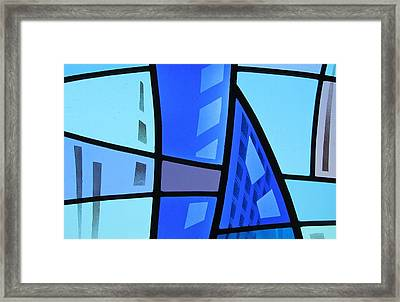 Coal Harbour Triptych Part 1 Framed Print by Gilroy Stained Glass