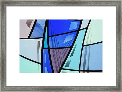 Coal Harbour Triptych Part 2 Framed Print by Gilroy Stained Glass