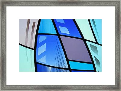 Coal Harbour Triptych Part 3 Framed Print by Gilroy Stained Glass