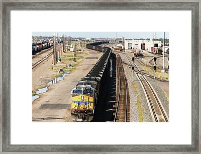 Coal Train Framed Print by Jim West