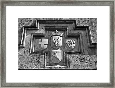 Coat Of Arms At The Street Of Knights Framed Print by George Atsametakis
